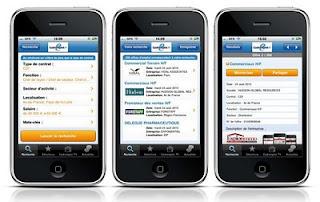 Ecrans appli Cadremploi pour iPhone