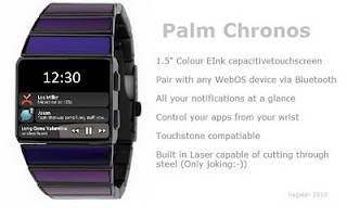 Le Palm Chronos, issu de la Palm Pre Design Competition