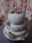 3 stacks fondant cake