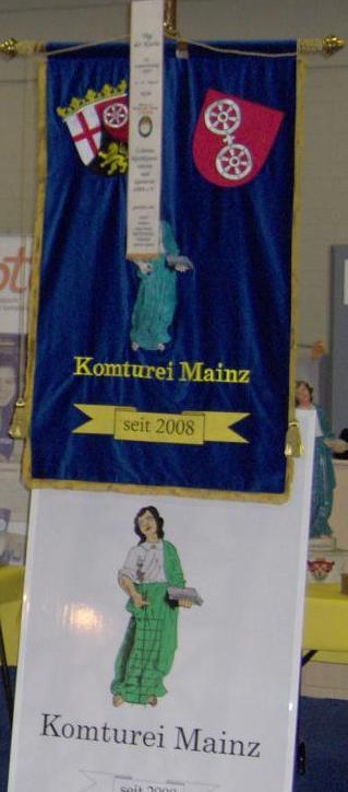 Fahne Komturei Mainz