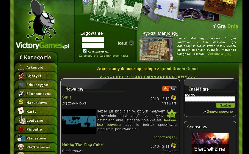 Strona ma naprawdę ładną szatę graficzną - warto poświęcić na