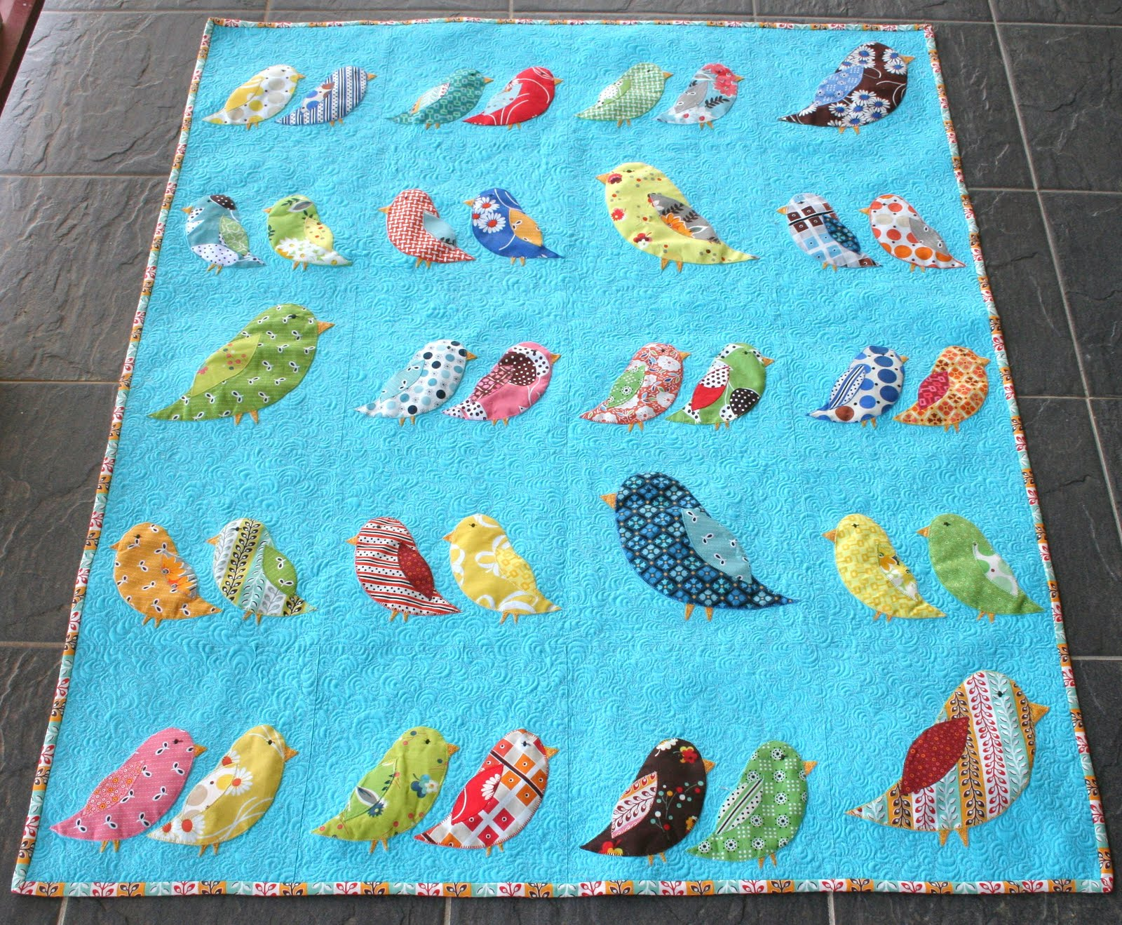 Gone Aussie Quilting: Birds of a Feather Quilt Finished : bird quilt pattern - Adamdwight.com