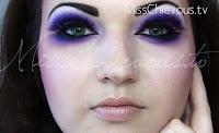 purple makeup look