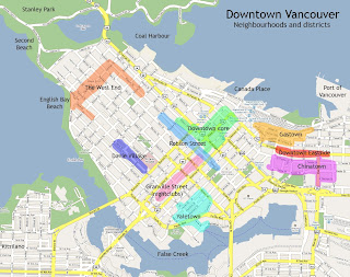 Map of Downtown Vancouver