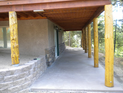 A look at the finished basement patio.