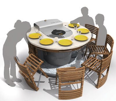 Mobile Barbeque with folding chair