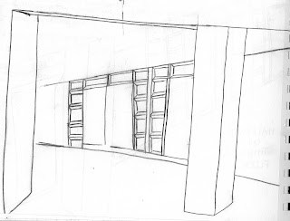 open door drawing perspective. I Sketched This Hallway On The Third Floor Of Studio Arts Building, My  Problem Was That Did Not Really Know Where Angles Actually Were. Open Door Drawing Perspective S
