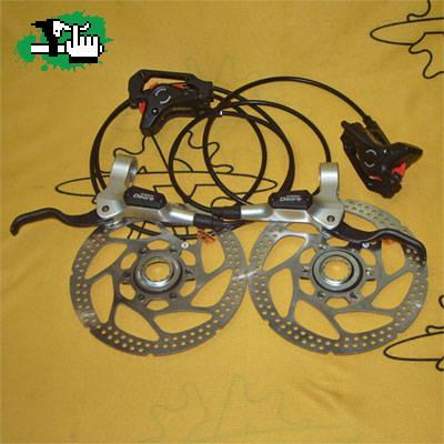 Como instalar frenos a disco hidráulicos en Bicicleta