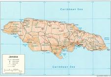 Mapa de jamaica..