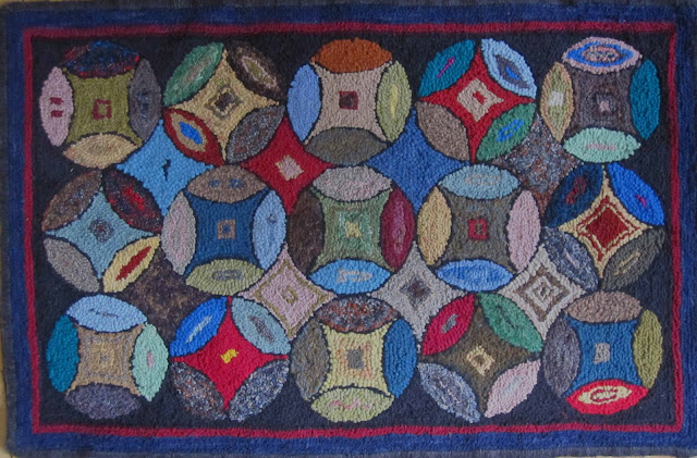 Crow Hill Primitives rug hooking patterns, kits, hand dyed wool
