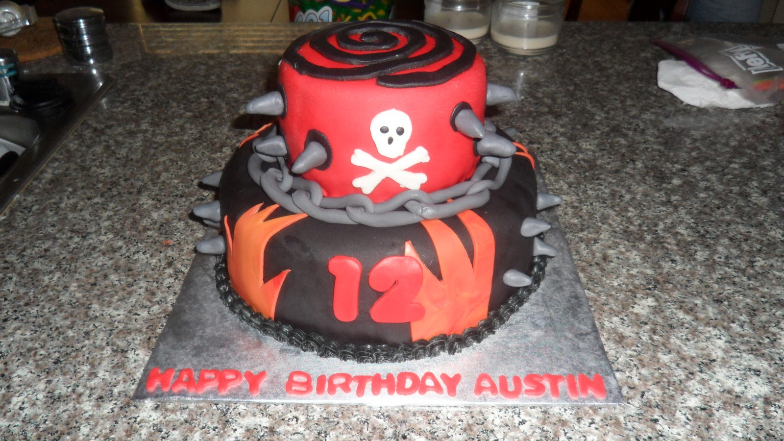Three Sweet Cakes Gothpunk Birthday