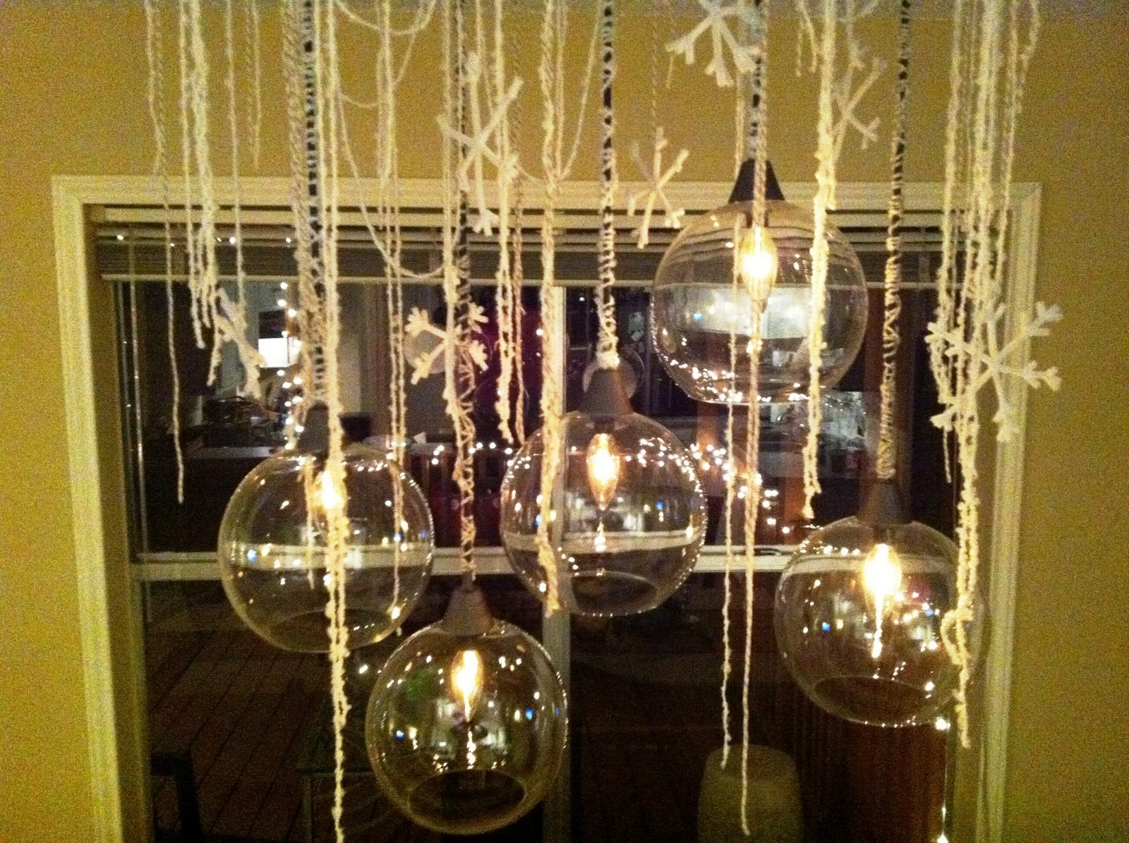 Light fixture decor over Dining table- remember the Anthropologie ...