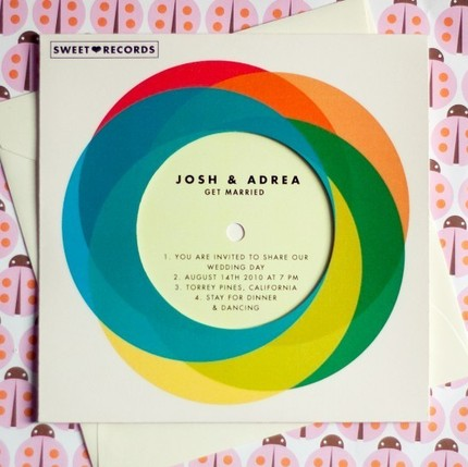 creative and funky wedding invitations
