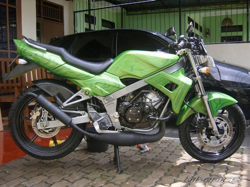 cara modifikasi motor: Motor Ninja R 150