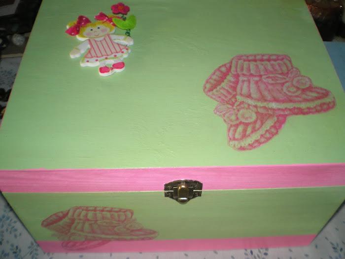 Caixa grande rosa{verde
