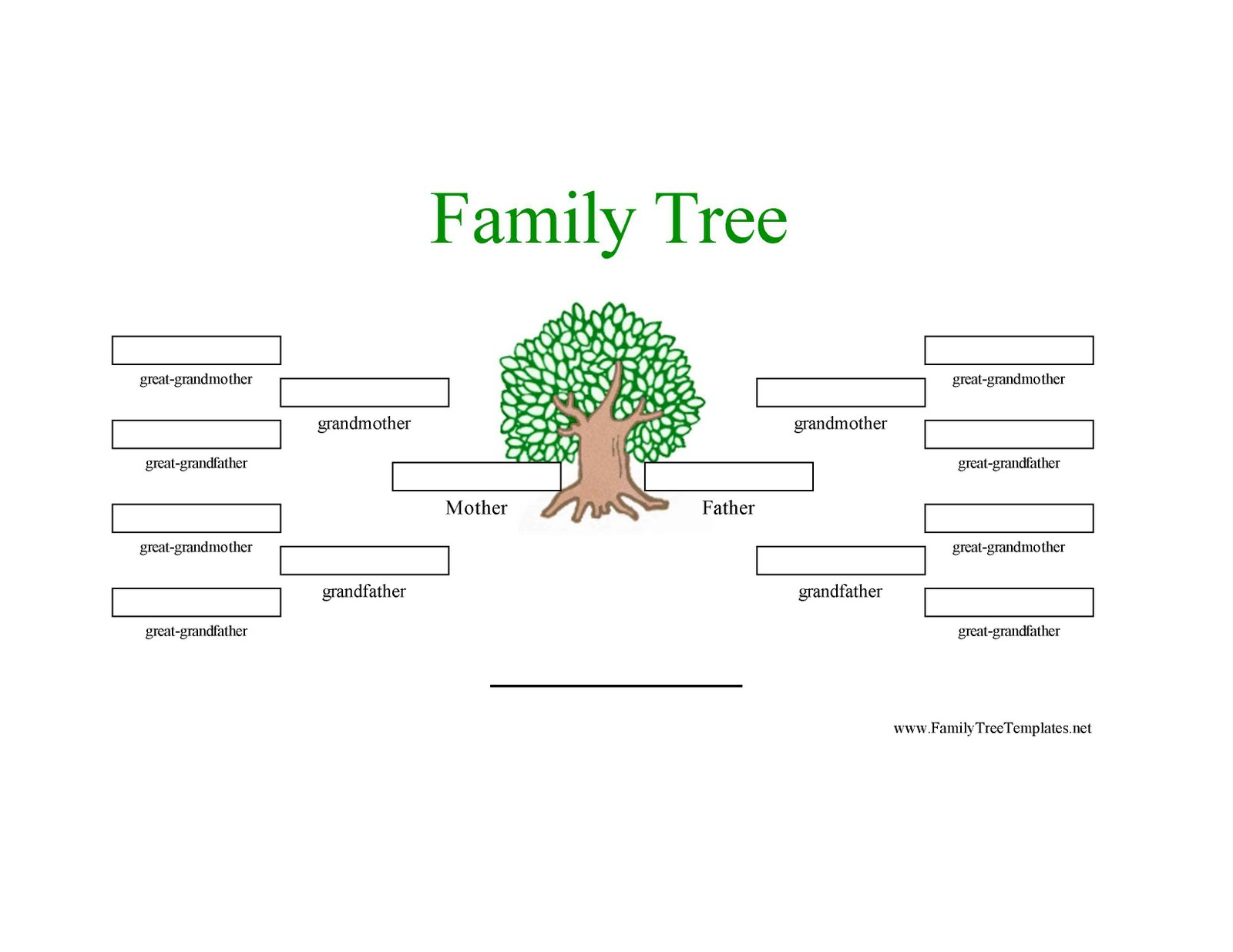 Family Tree Template: Family Tree Template Three Generation