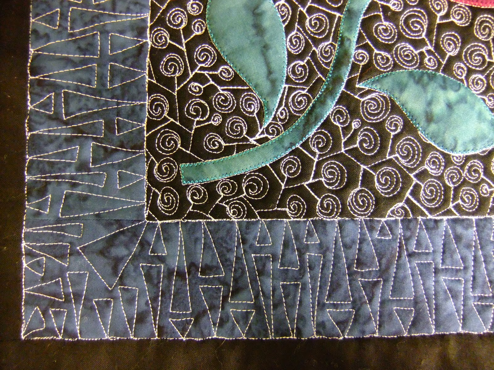 Free Motion Quilting Designs For Sashing : The Free Motion Quilting Project: Section Quilting Part 3