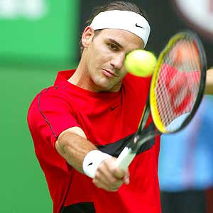 Federer Backhand Picture