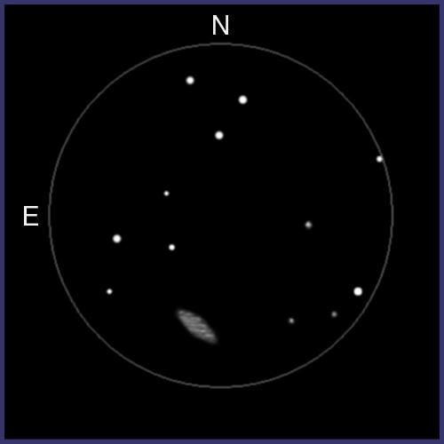 NGC253, galaxia observada con prismáticos. NGC253-03