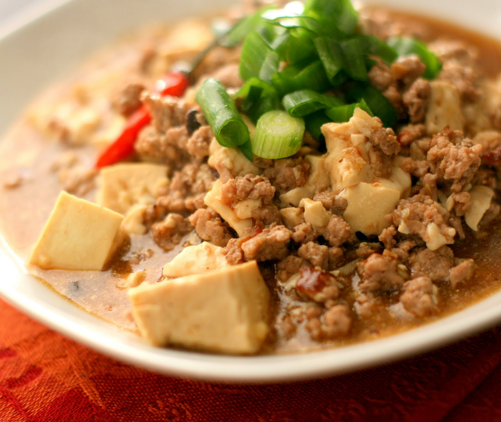 QlinArt: Tofu in A Hot and Spicy Black Bean and Ginger Sauce