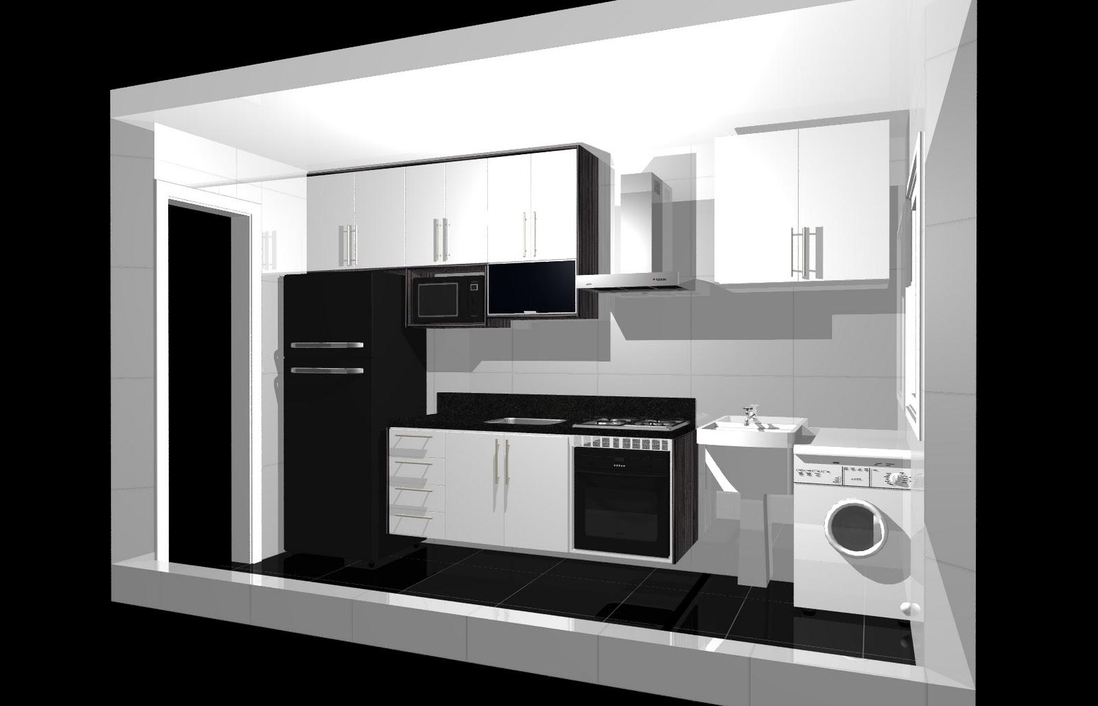 OS CASOS: Area de serviço na cozinha? ou cozinha na area de serviço #080708 1600 1030