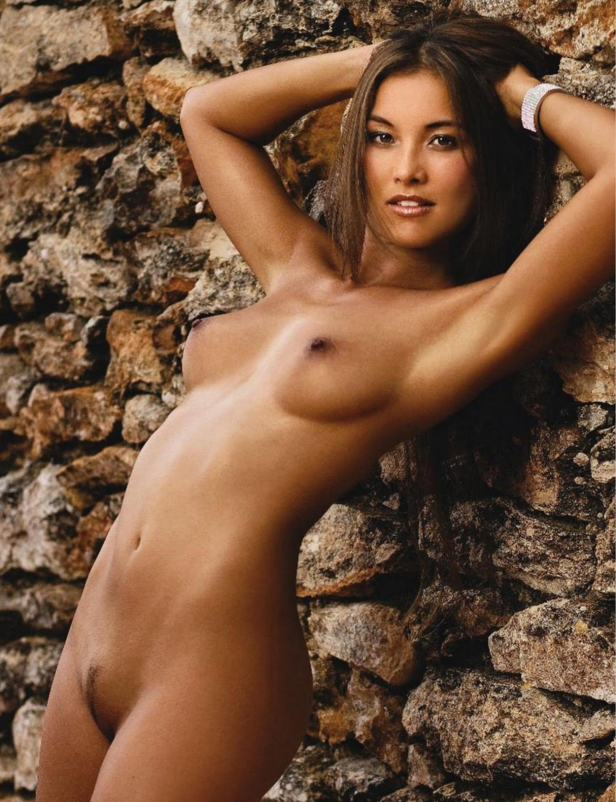 Big tits with huge dark areolas