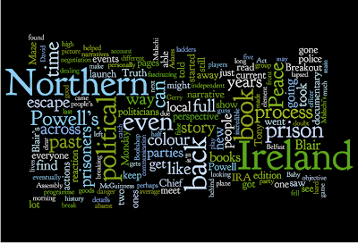 The result of running Alan in Belfast through wordle.net