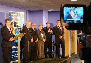 Jeffrey Donaldson speaking after being declared MP for Lagan Valley at the May 2010 Westminster election