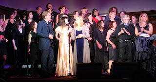 All the artists on stage for the last number