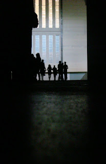 Looking back towards the entrance of Miroslaw Balka's box in Tate Modern's Turbine Hall