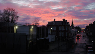Lisburn sun set