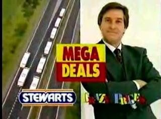 Still from Stewarts Supermarkets / Crazy Prices advert featuring Jim Megaw