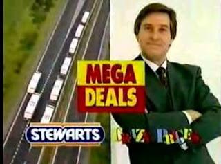 Still from Stewarts Supermarkets / Crazy Prices advert featuring Jim Megaw