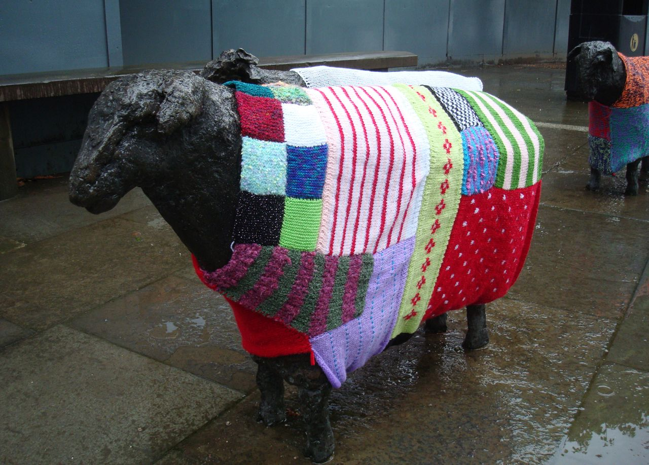 Alan in Belfast: Guerilla knitting hits the Waterfront flock
