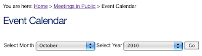 Searching DPP calendar for meetings in October 2010