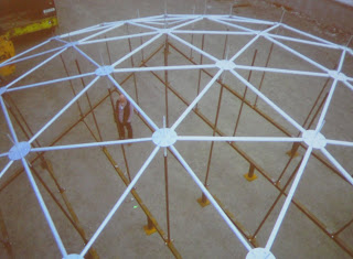 Fabrication of one small section of RISE - giving an idea of the proportions and dimensions
