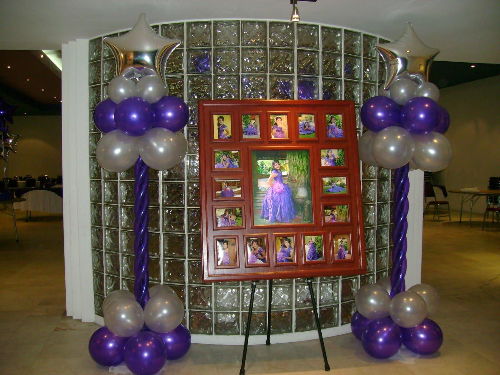 Decoracion y arte en globos arte en globos y detalles for Globos para quince anos