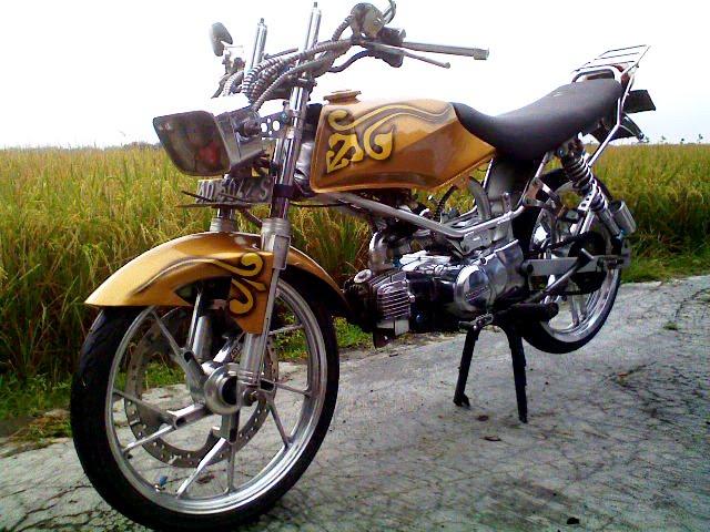 contoh modifikasi motor honda win