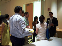After the panel, students met with alumni to discuss specific professions and industries