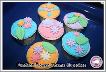 Fondant Flower Cupcakes