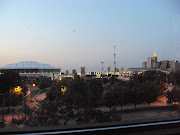 This second view is a shot of the Atlanta skyline taken from the stairway of .