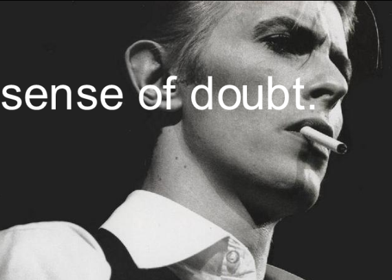 sense of doubt