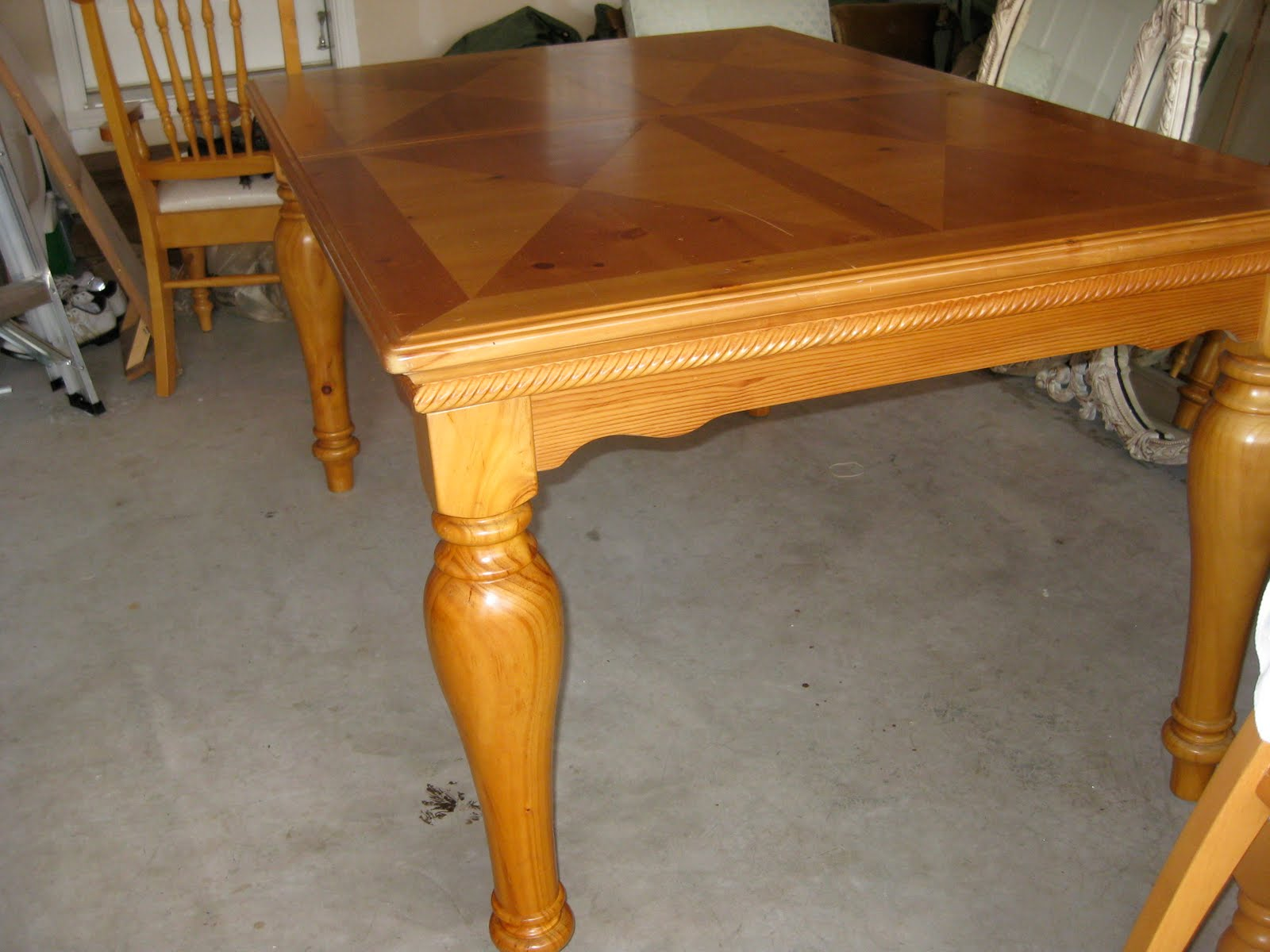 I Searched All Over And We Ended Up Getting This Table From A Lady On Craigslist Payed 300 That Included The 8 Chairs