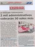 DIARIO CORREO DECLARACIONES POR EL PAGO DEL BONO DE PRODUCTIVIDAD