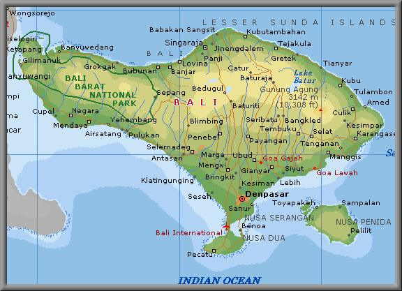All about bali geography and topography of bali the total area of the province of bali is 563440 ha to reach the 529 km long coastline gumiabroncs Gallery