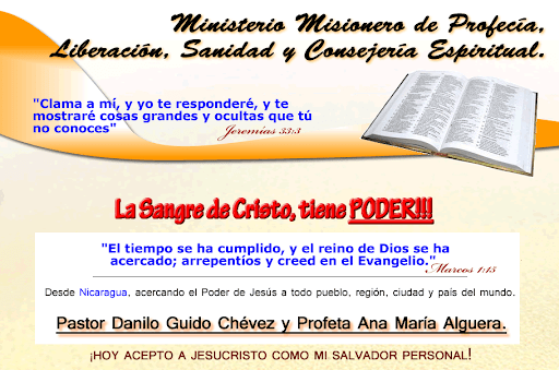Ministerio Misionero de Profeca, Liberacin, Sanidad y Consejera Espiritual.