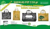 Sacolas em TEcido 100% pet reciclado