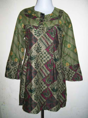 Batik Blues Muslim Batik Solo Indonesia
