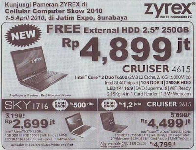 Laptop Zyrex Promo