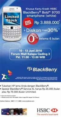 Blackberry Bold 9700 XL HSBC